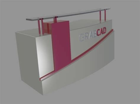 Reception Desk Step Iges Pro Engineer Wildfire Catia Reception Desk Cad