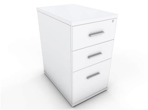 White Desk High Drawer Unit Icarus Office Furniture