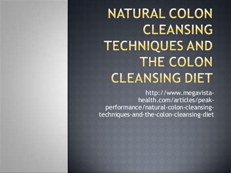 Detox Meditation Mantra by Colon Cleansing Techniques And The Colon Cleansing