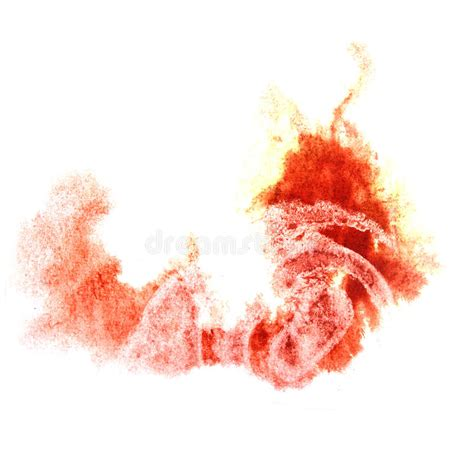 paint orange splash ink stain watercolour stock illustration image 48125725