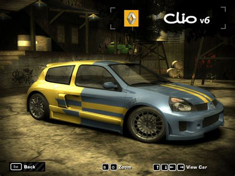 renault clio v6 nfs carbon renault clio v6 by trinigt need for speed most wanted