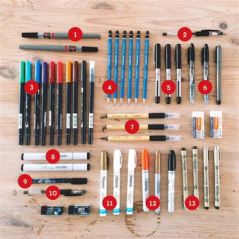 6 Drawing Tools lost type field trip drawing tools lettering