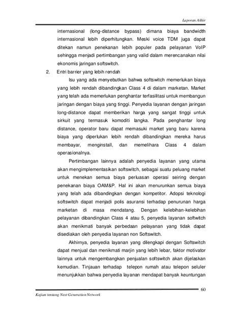 contoh laporan voip studi next generation network 2005