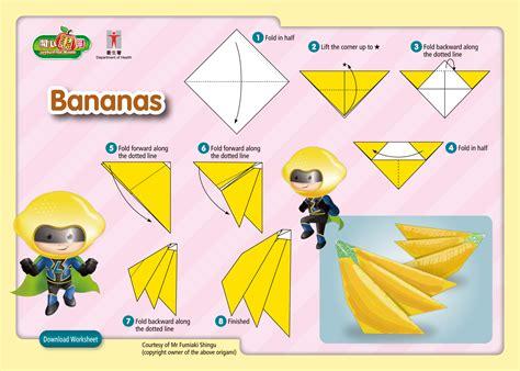 Origami Banana - origami banana tutorial origami handmade