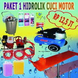 Paket Peralatan Usaha Cuci Mobil 5 Hidrolik Type X Berkualitas peralatan cuci hidrolik mobil dan cuci hidrolik motor