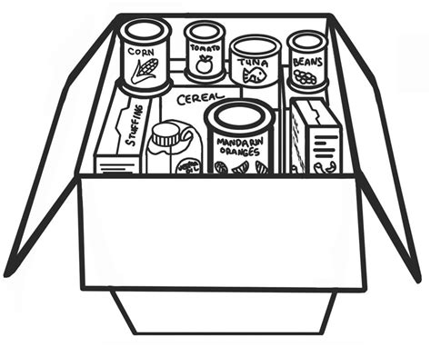 coloring pages food drive ldsfiles clipart food drive
