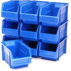 Garage Storage Boxes 100 Blue Stacking Storage Parts Bins For Garage Storage