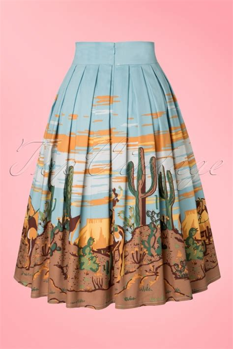 Skirt The Typical Day Swing The Usual Days Pv 0117015 50s magical day swing skirt in light blue