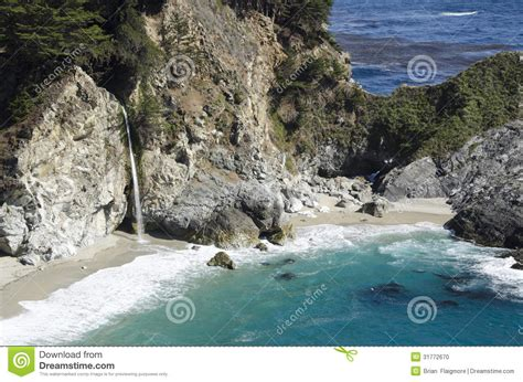 rugged central coast waterfall stock photo image 31772670