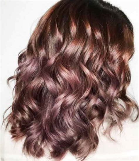 rose gold hair dye dark hair rose gold hair color dye formula on brunettes highlights