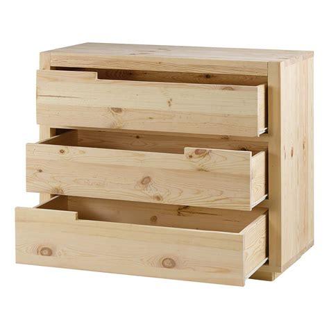 Commode En Pin Naturel commode pin massif brut 3 tiroirs customize grenier alpin