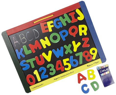 melissa doug magnetic chalk dry erase board with