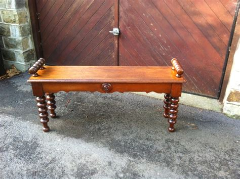 antique mahogany hall bench window seat 246903