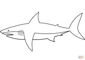 easy shark coloring page free printable coloring pages