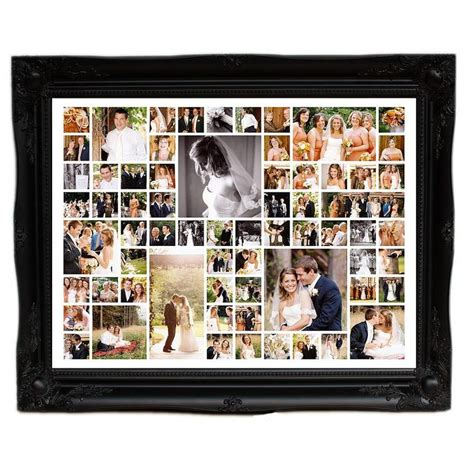 photo montage for wedding personalised wedding photo montage large