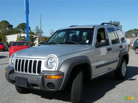 silver jeep liberty 2004 bright silver metallic jeep liberty sport 3812951