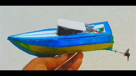 how to make a paper boat motor how to make electric boat with rc motor card board