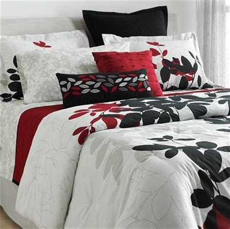 Red Black White Comforter Set Dream Bedroom Pinterest