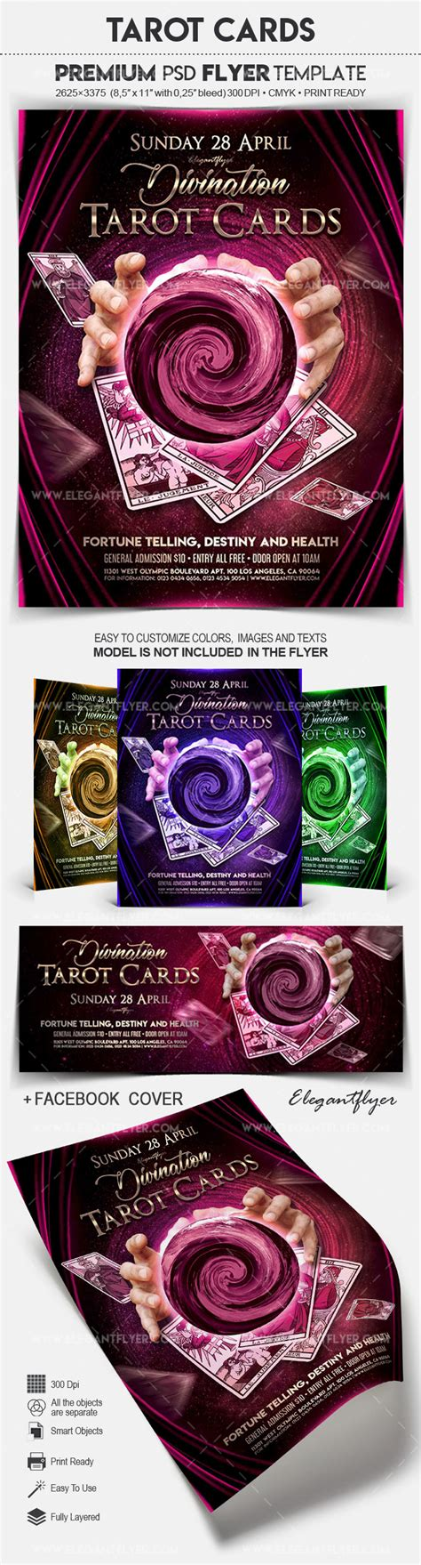 tarot cards flyer psd template by elegantflyer