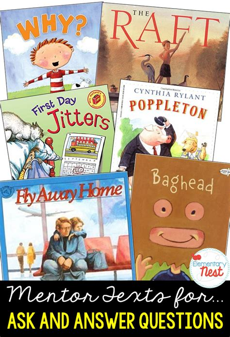 picture books for inferences second grade nest primary mentor texts for common