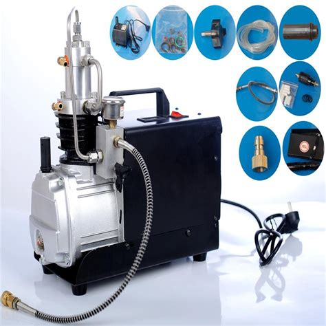 110v60hz 300bar compressor 4500psi high pressure air electrical mini air compressor for