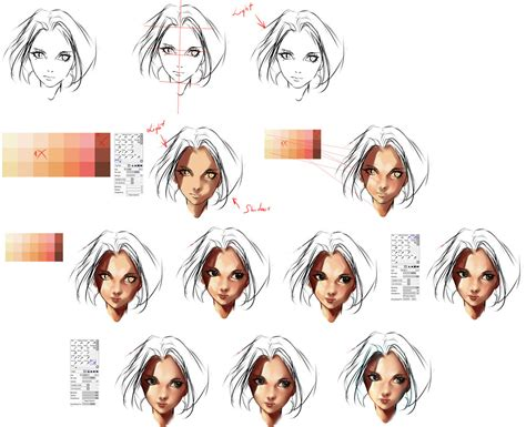 watercolor tutorial face face coloring tutorial by ryky on deviantart