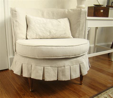 round chair slipcover the casual chic cottage making the old new again