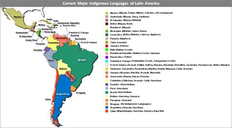 contemporary latin america contemporary alan dockrill map of contemporary latin america political geography and modern indigenous languages