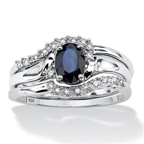 3 1 05 tcw oval sapphire and accent bridal