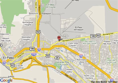 where is el paso texas located on a map fort bliss map my