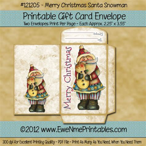 printable christmas cards pdf printable pdf file gift card envelope merry christmas