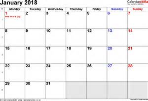 Calendar 2018 Customised Calendar January 2018 Uk Bank Holidays Excel Pdf Word
