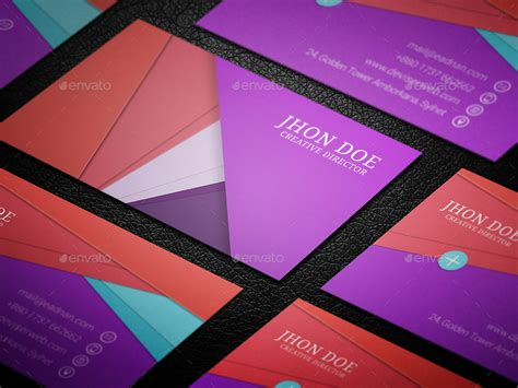 google design cards material design business card template by rtralrayhan