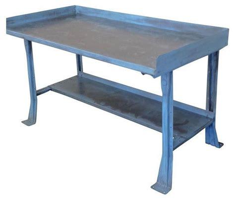 mid century modern work table mid century industrial steel work bench table desk