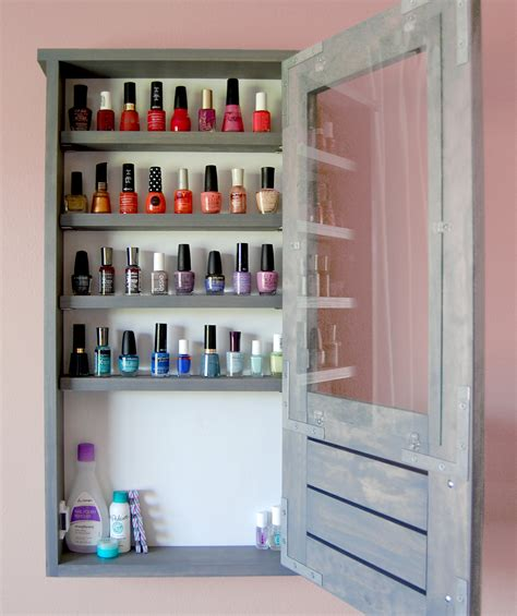 ana white nail polish cabinet diy projects