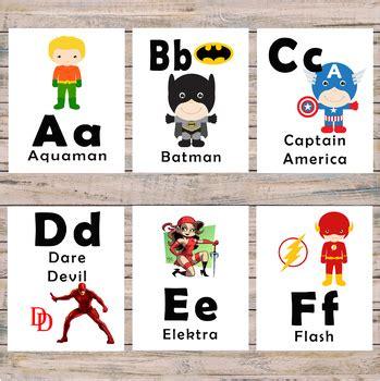printable superhero alphabet flashcards alphabet flash cards pre k and kindergarten superhero