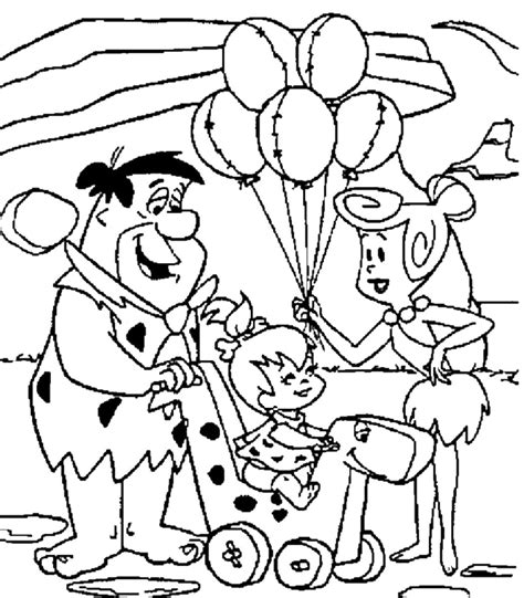 flintstones coloring pages download and print for free