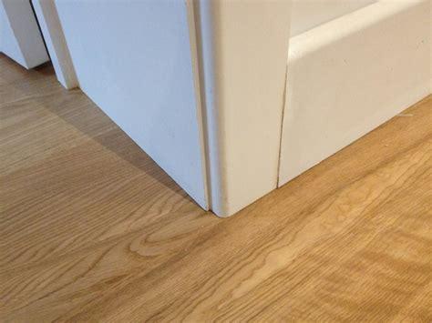 undercut door casing finished door jamb with laminate