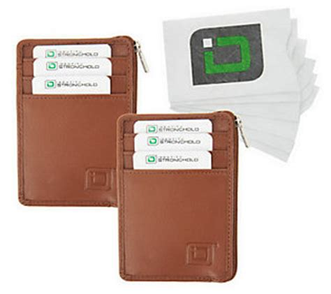 Where To Buy Qvc Gift Cards - id stronghold set of 2 mini wallets and 6 rfid card sleeves qvc com