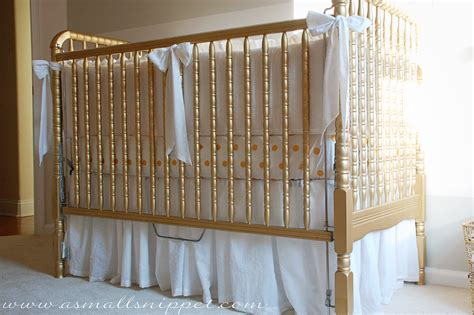 Crib Skirt by Adjustable Ruffled Crib Skirt A Small Snippet