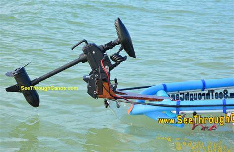 motor for canoe rear transom mount remote motor for a kayak or canoe