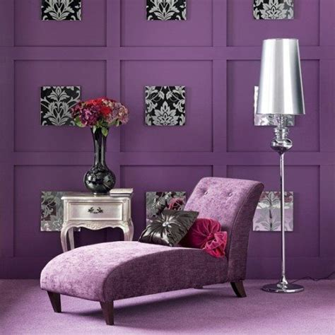 purple living room for feminine look home style