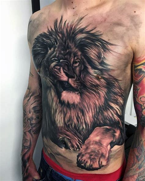 fierce lion tattoos designs 70 chest designs for fierce animal ink ideas