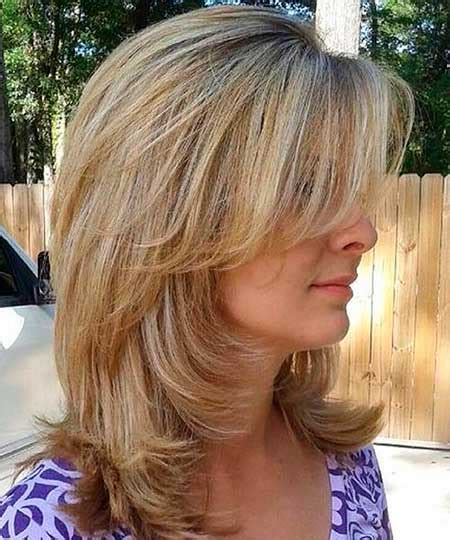 layers with soft waves hairstyles 15 pics of medium length hairstyles with bangs and layers