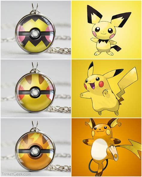 theme line pikachu pkmn pikachu evolutionary line themed pokeball pendants