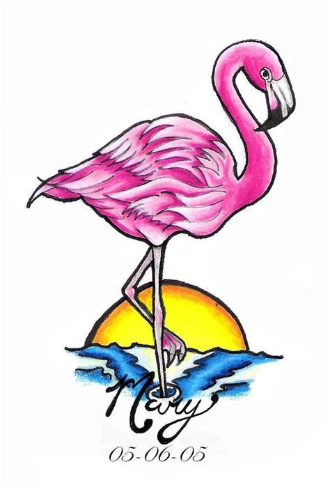 flamingo heart tattoo clipart best