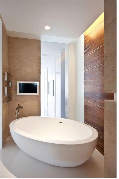modern bathroom com freestanding modern bath tub interior design ideas