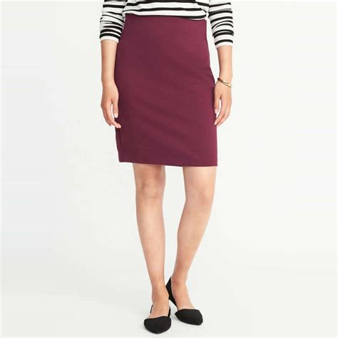 ponte knit pencil skirt navy ponte knit pencil skirt for rank style