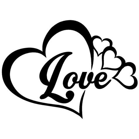 16x11 6cm love heart symbol vinyl decals family infinity