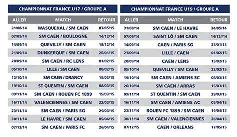 Calendrier Sm Caen U19 U17 Nationaux Pr 233 Parer Les Professionnels De Demain